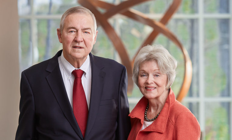 Photo of Dr. Jim and Mrs. Ann Goodnight of SAS Institute in Cary, North Carolina.