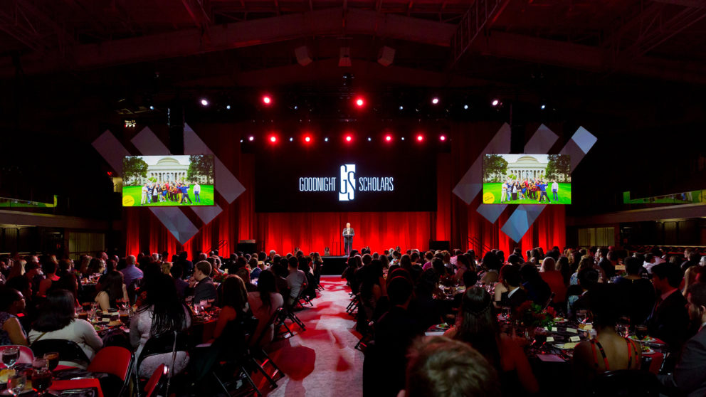 Venue photo of the Goodnight Graduation Gala at Reynolds Coliseum in April 2019.